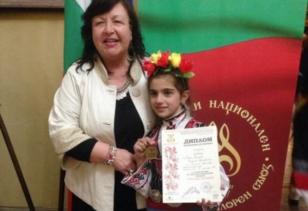 "MARIA KISYOVA WITH ONE GOLD MEDAL OF THE COMPETITION ""ORPHEUS TALENTS"""