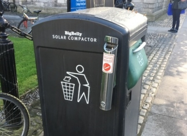 Recycle bins in Ireland will tell when they are full