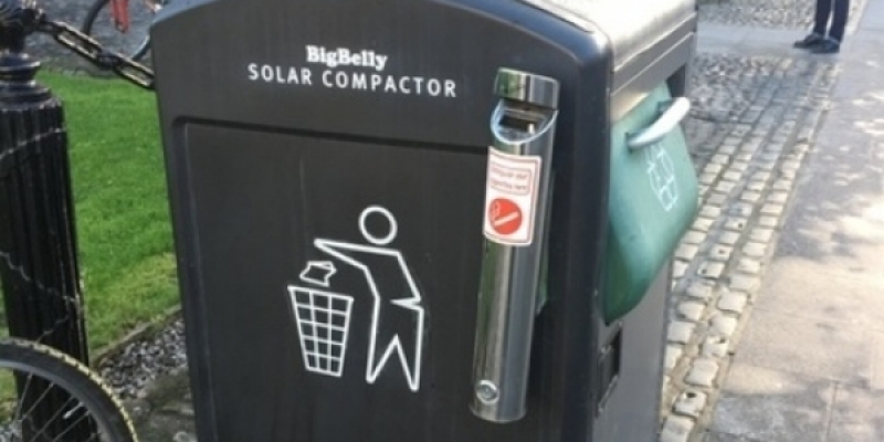 Recycle bins in Ireland will tell when they are...